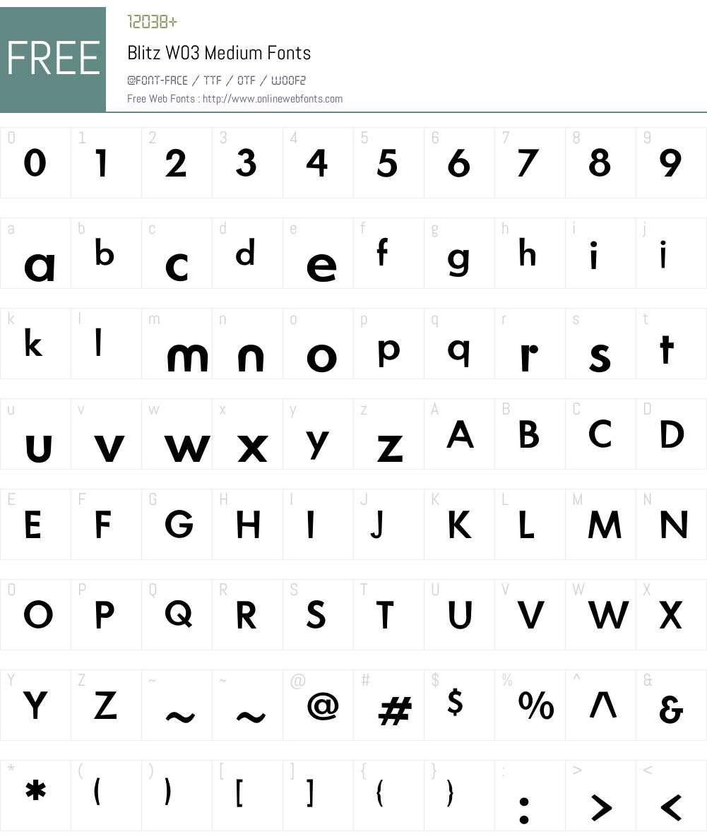 Blitz Font Screenshots