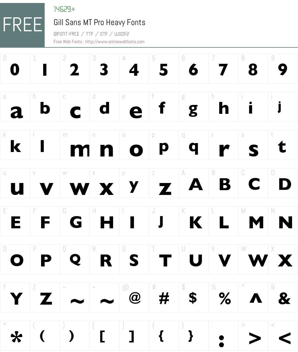 Gill Sans MT Pro Font Screenshots