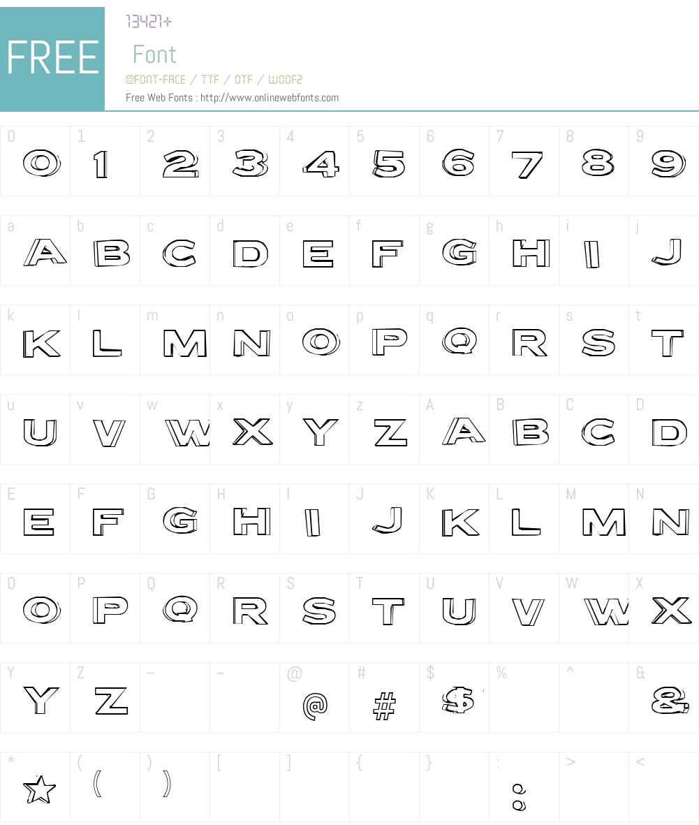 Letter Set B Font Screenshots