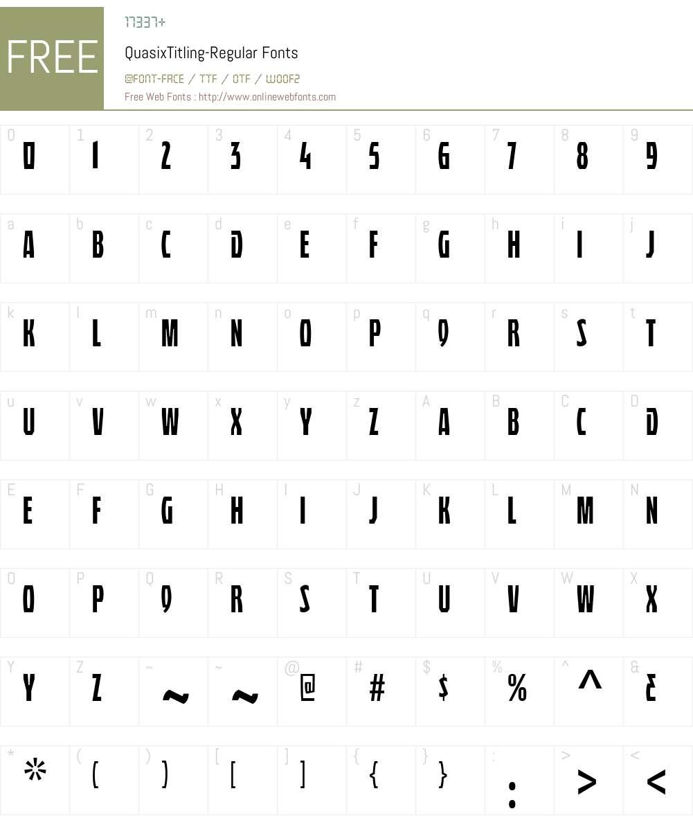 Quasix Titling Font Screenshots