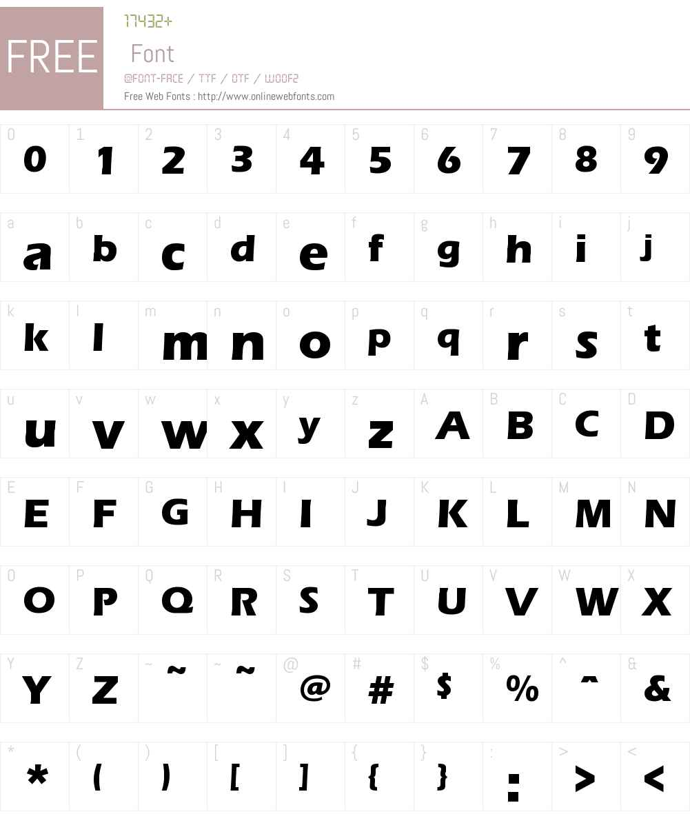 ErasBoldITCW08-Regular Font Screenshots