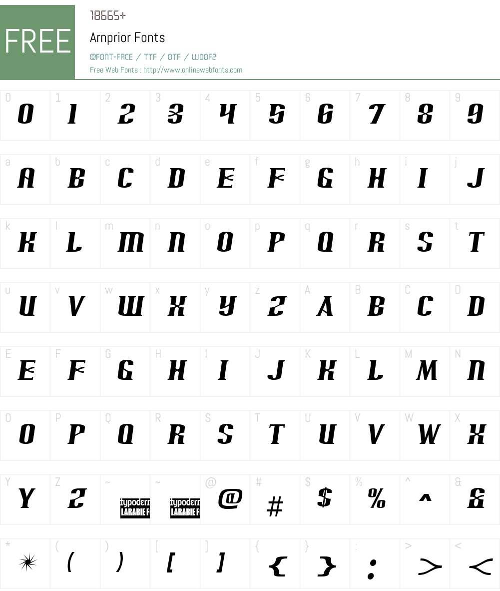 Arnprior Font Screenshots