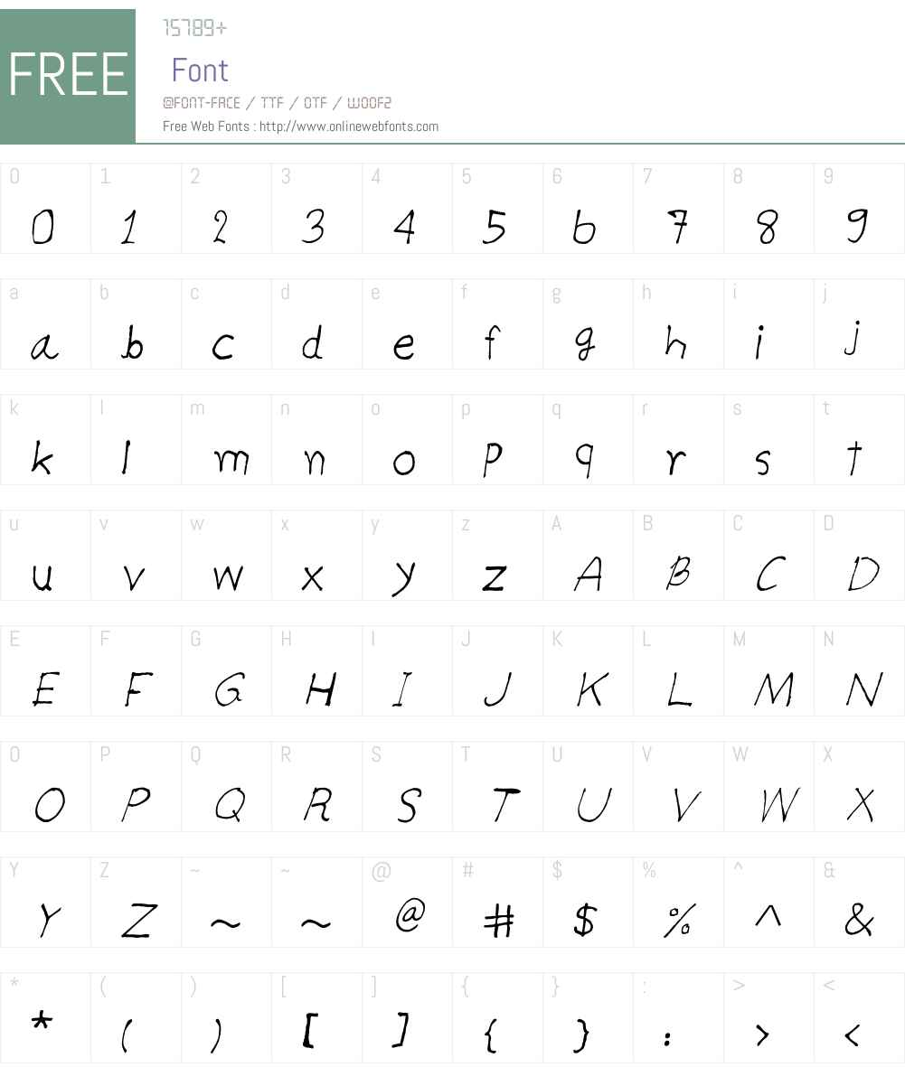 CRU-teerapong-Hand-Written Font Screenshots