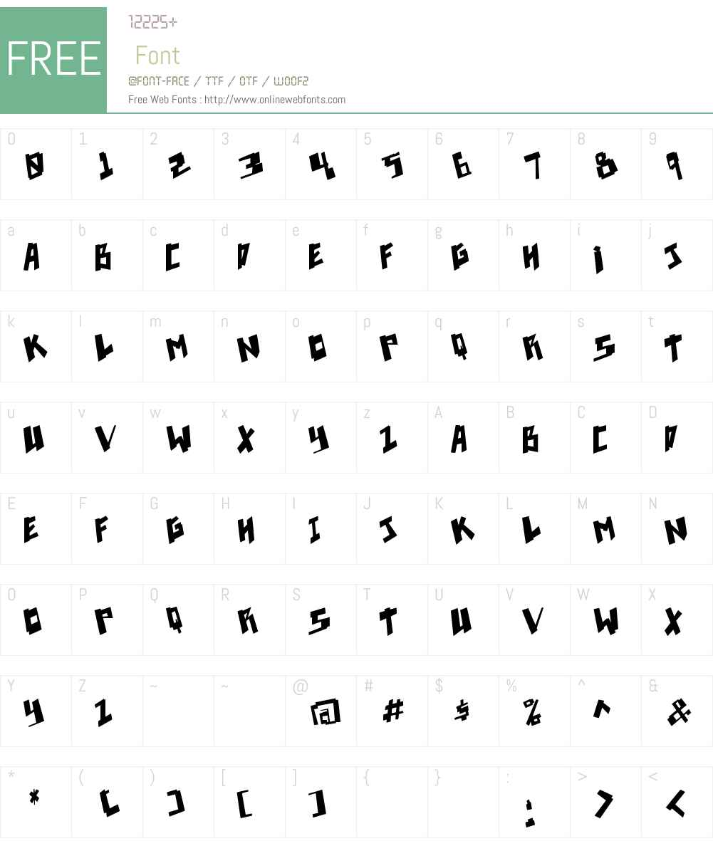 Pixelpunk Font Screenshots