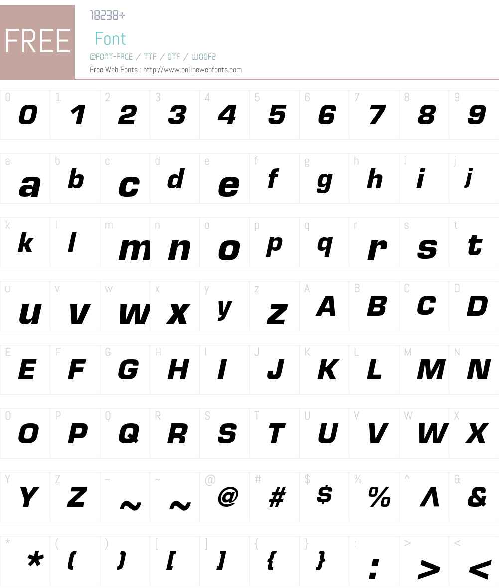 Eurostile LT Std Font Screenshots