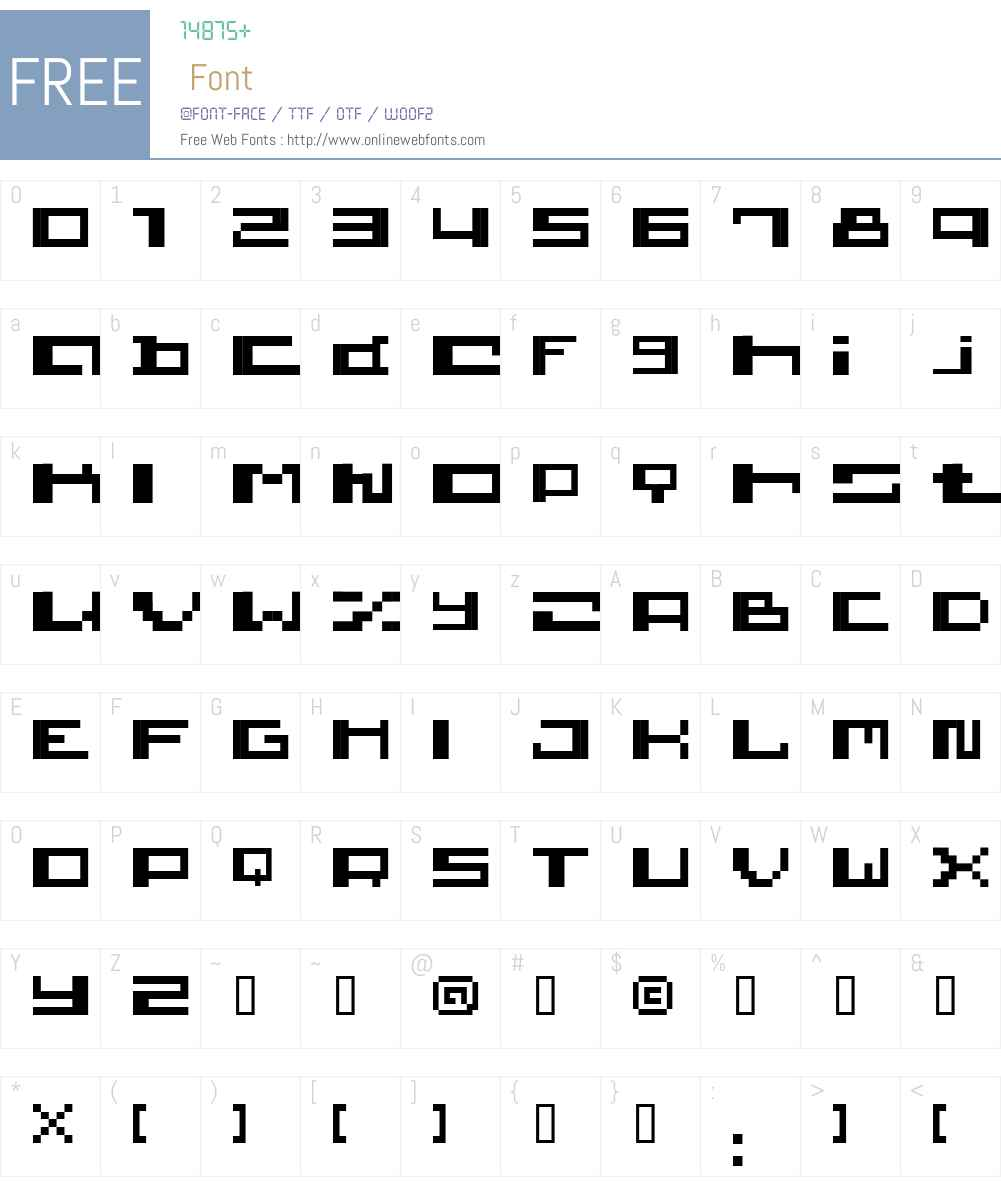 wickywirus Font Screenshots
