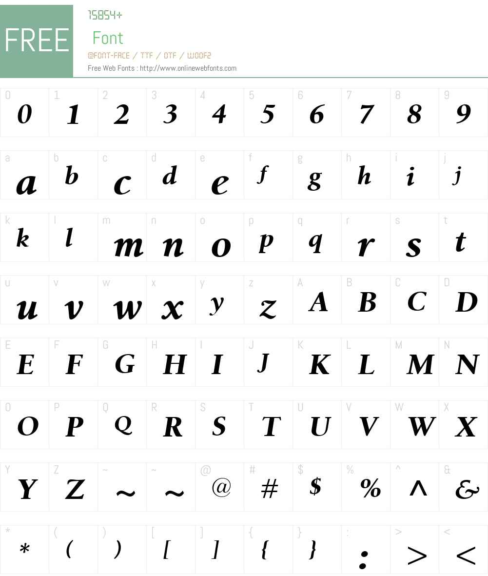 BirkaW01-BoldItalic Font Screenshots