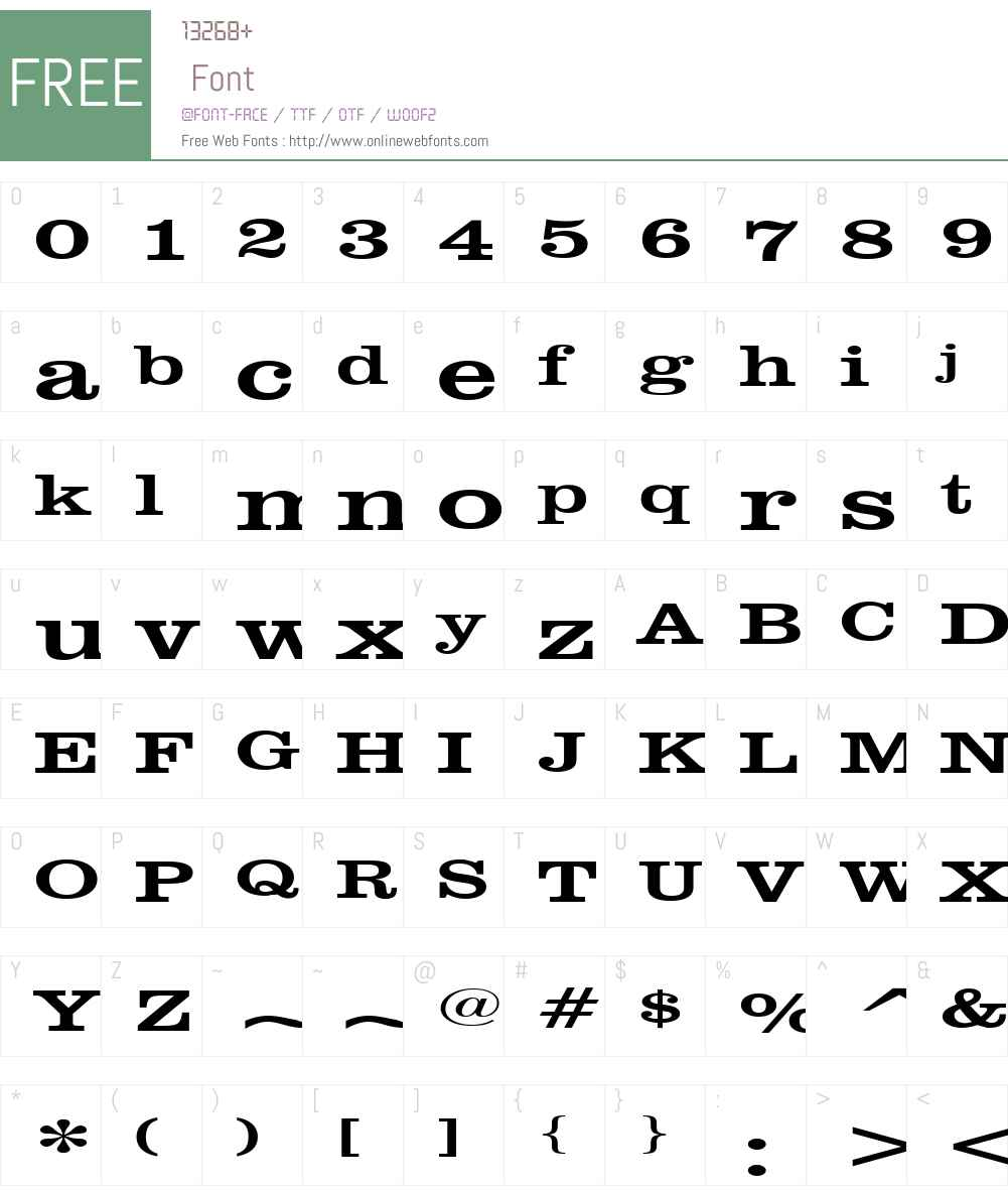 Clare Extended Font Screenshots