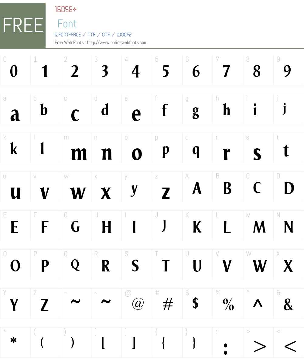 OdenseW00-BoldCondensed Font Screenshots