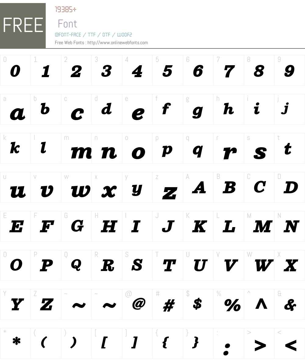 SutroW01-HeavyItalic Font Screenshots