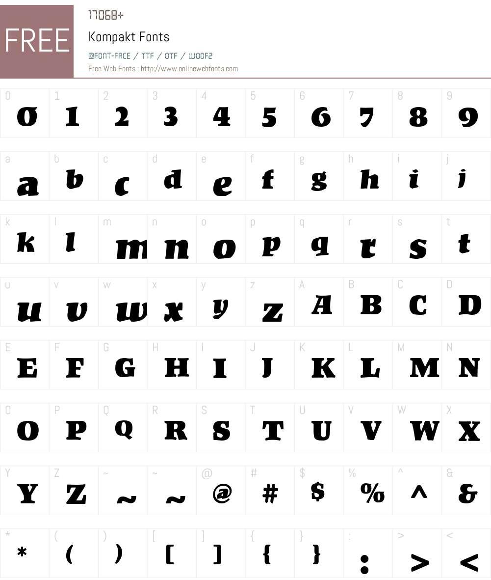 Kompakt Font Screenshots
