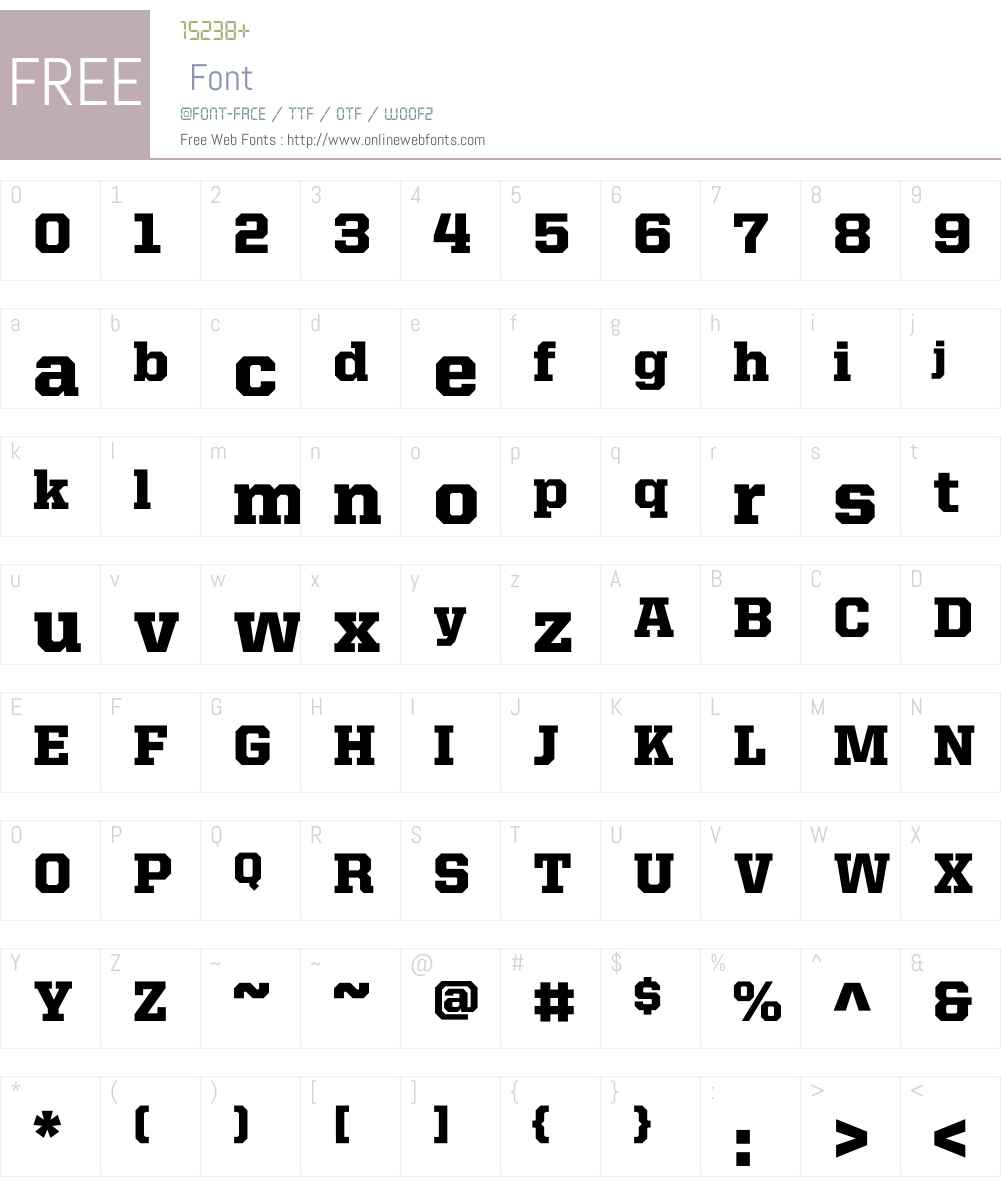 United Serif Reg Font Screenshots
