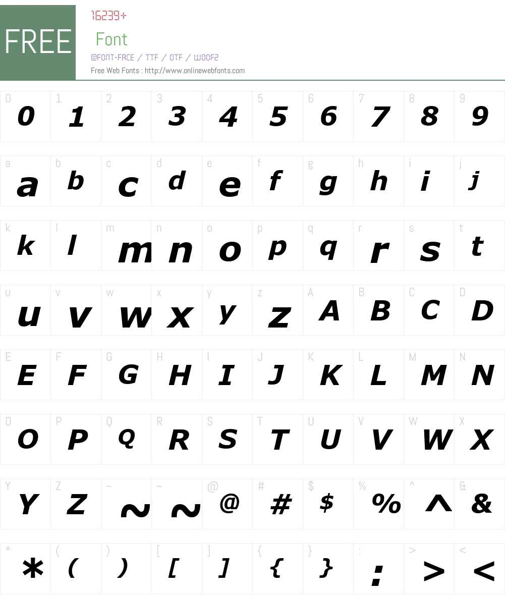 Verdana Font Screenshots