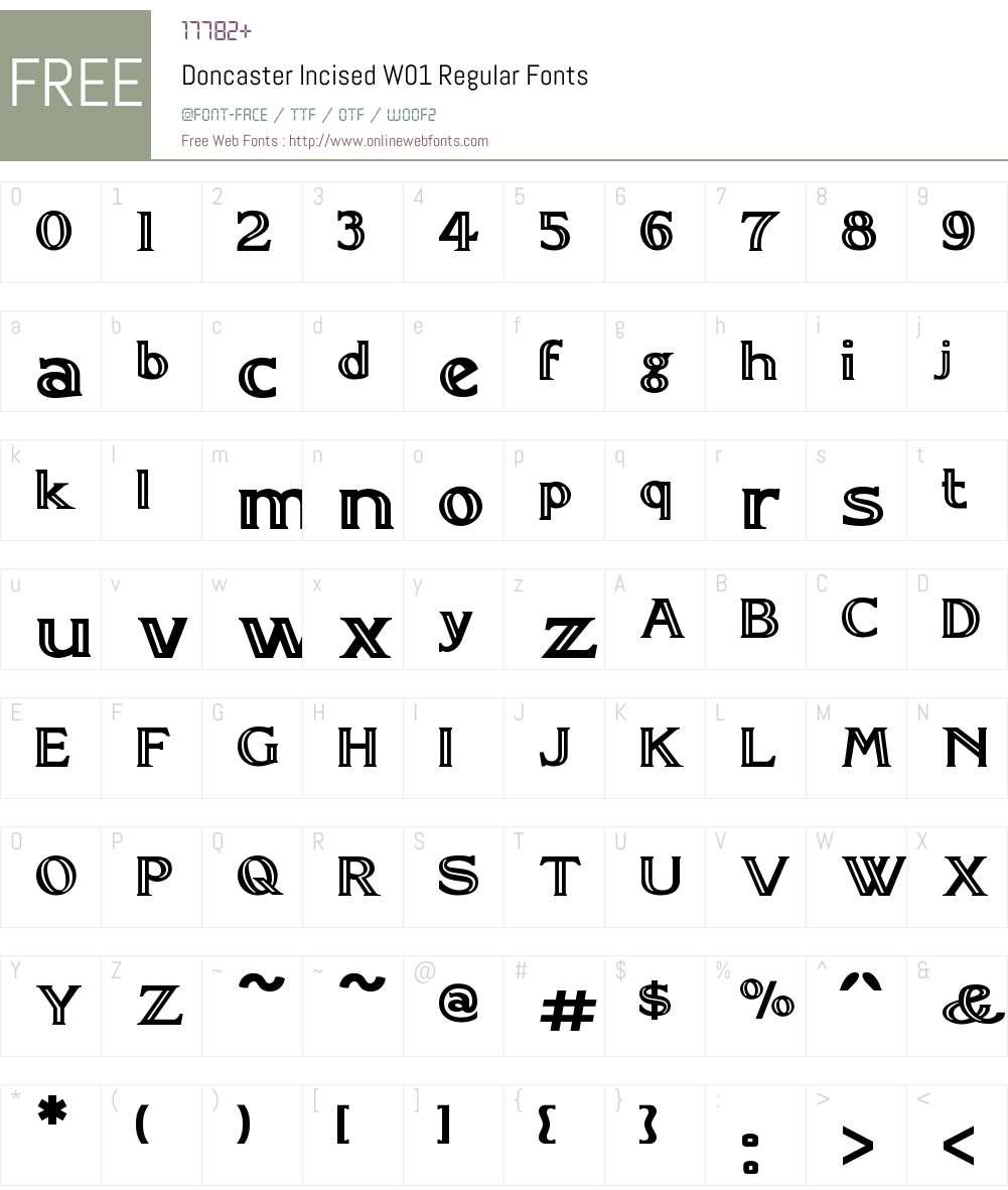 DoncasterIncisedW01-Regular Font Screenshots
