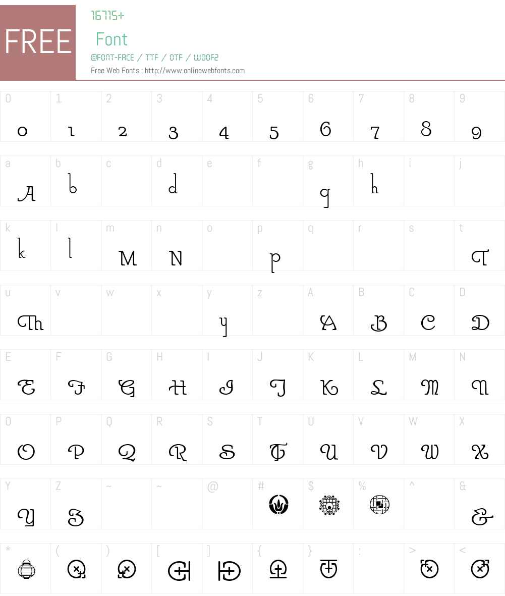 ParsnipNF Font Screenshots