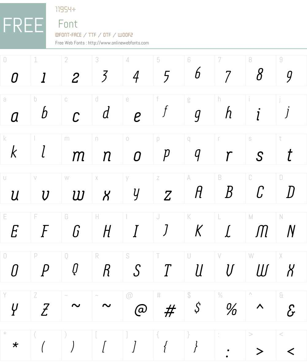 MontixLTW01-LightItalic Font Screenshots