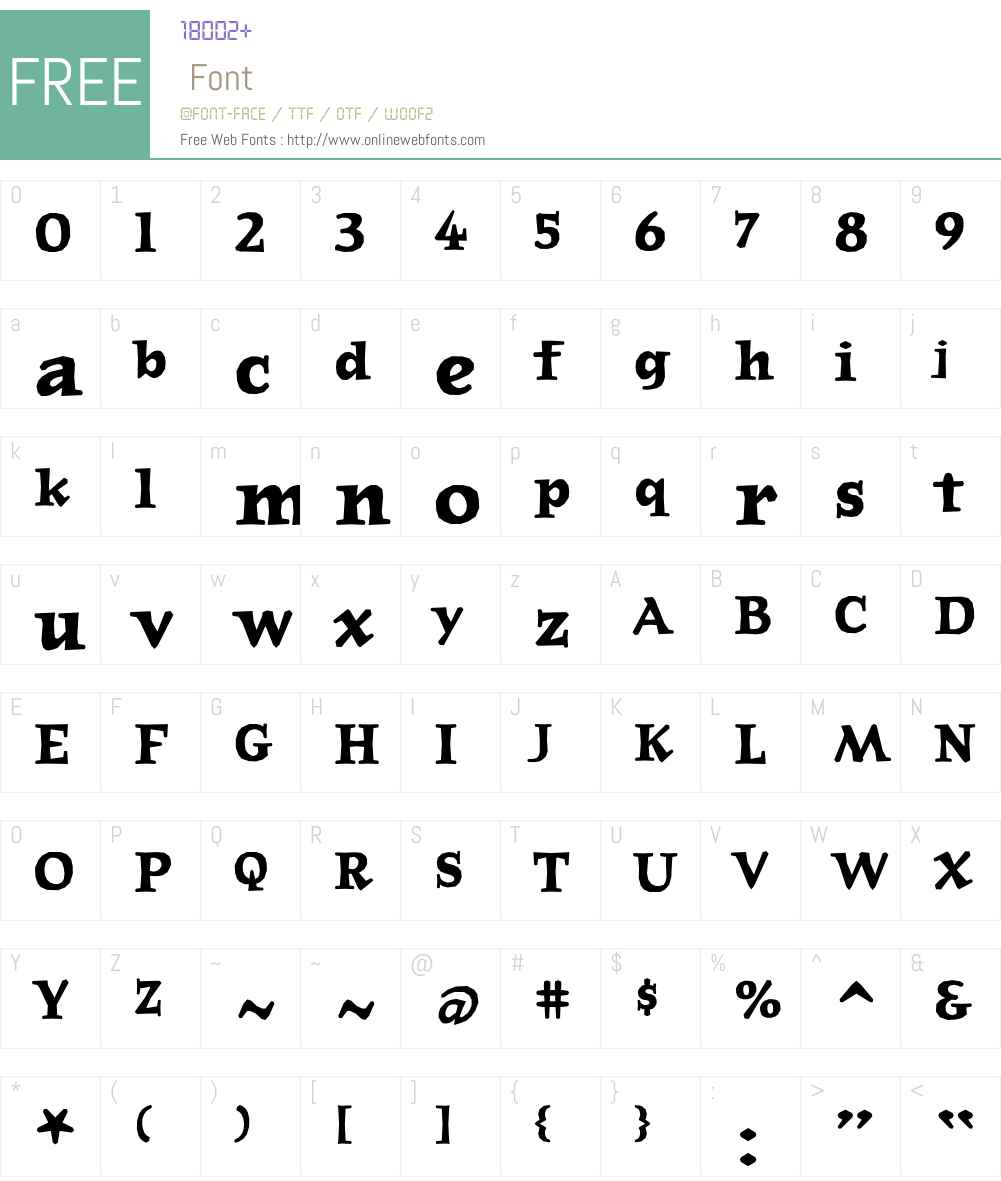 JournalBold Font Screenshots