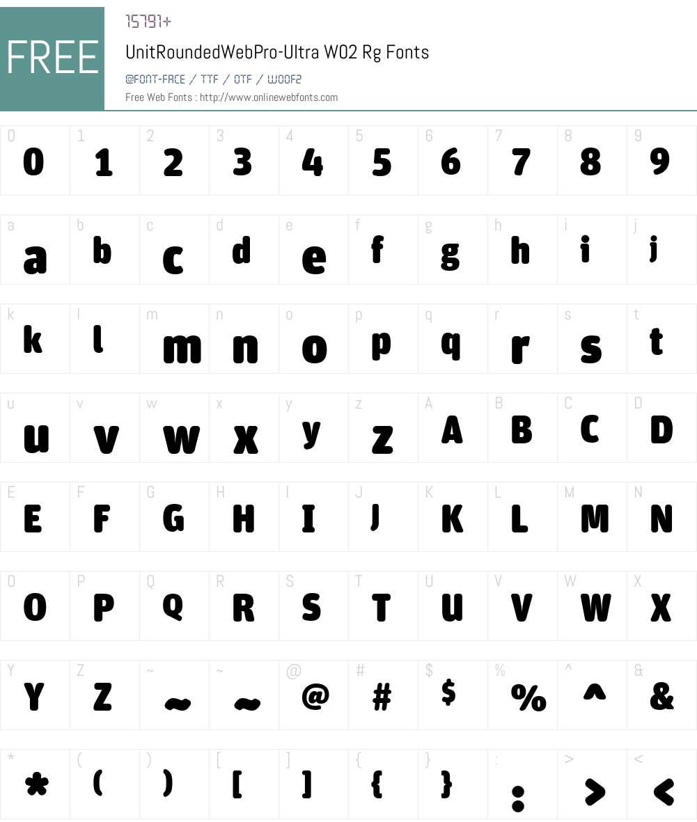 UnitRoundedWebPro-UltraW Font Screenshots