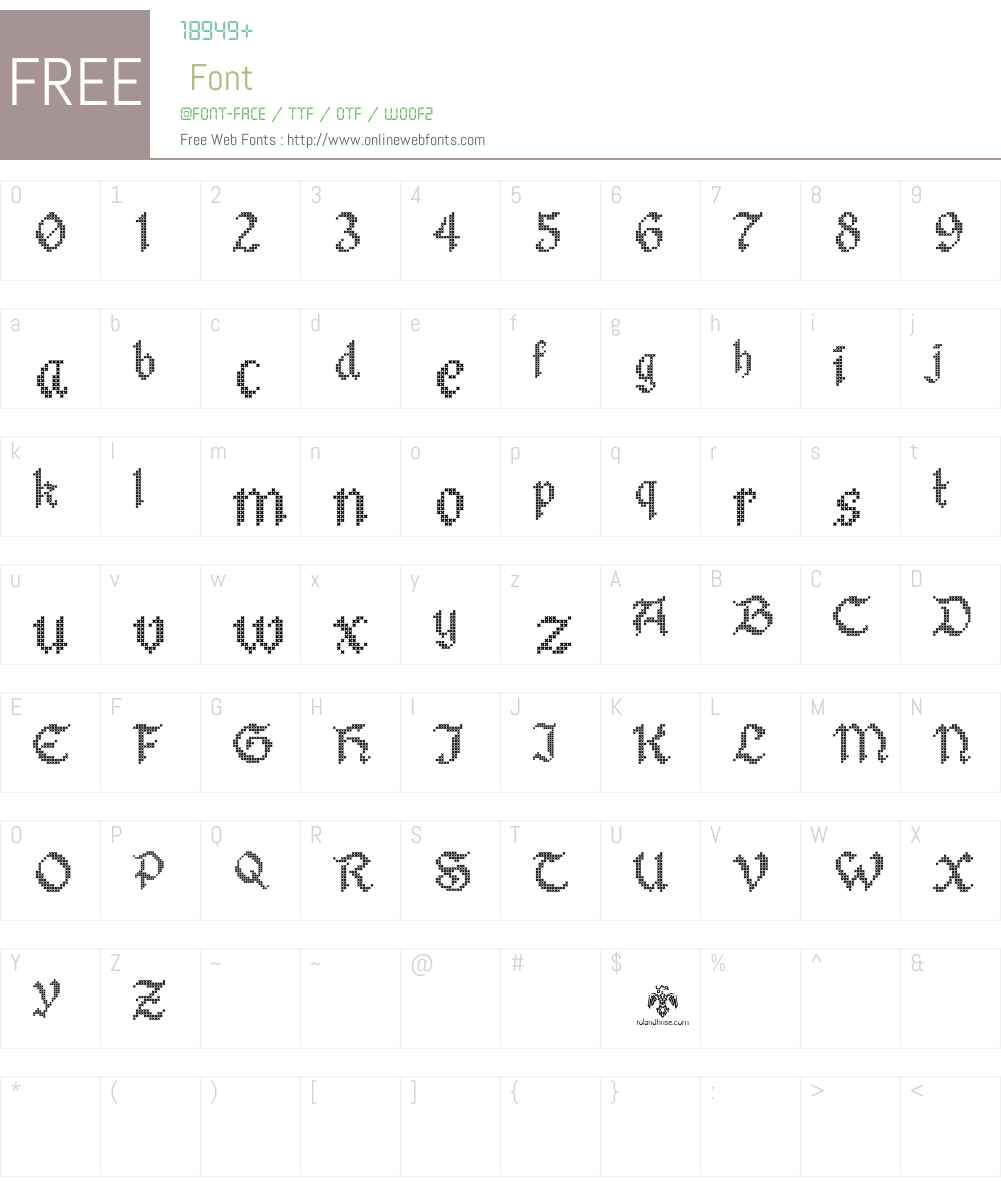 Stitch Warrior Font Screenshots