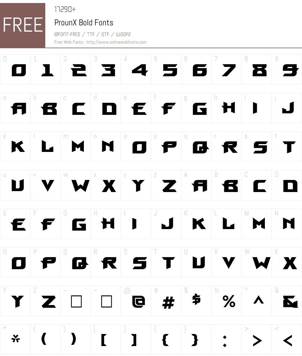 ProunX Font Screenshots