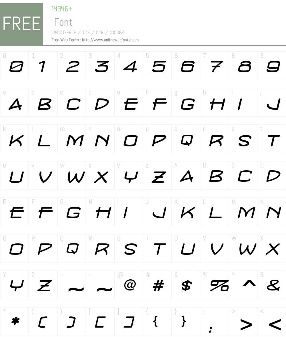 ConcursoModerne BTN Wide Font Screenshots