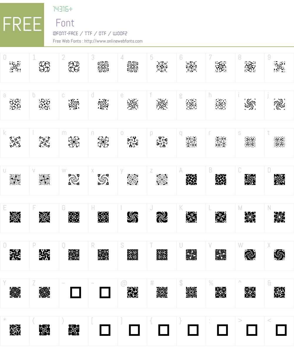Pinaform Font Screenshots
