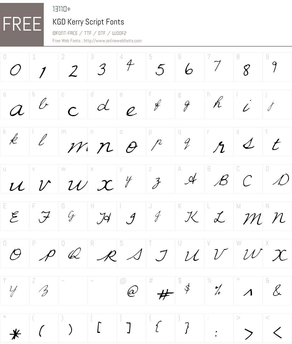 KGD Kerry Script Font Screenshots