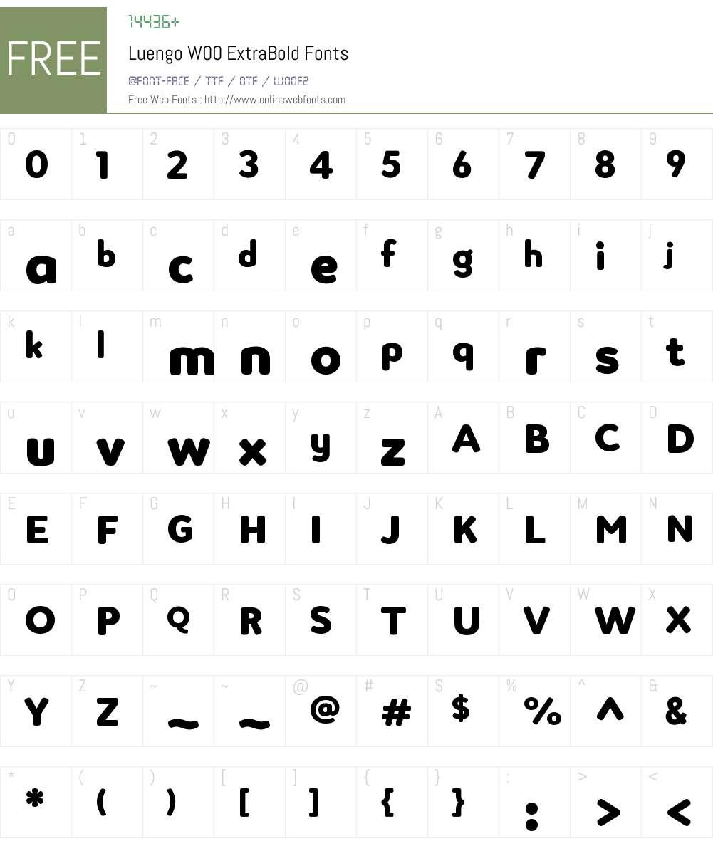 LuengoW00-ExtraBold Font Screenshots