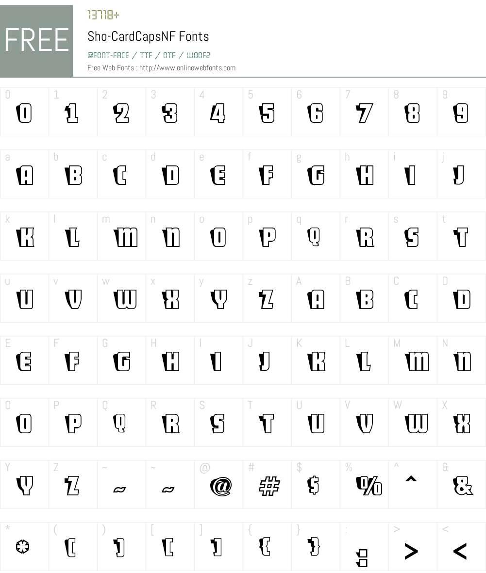 ShoCard Caps NF Font Screenshots