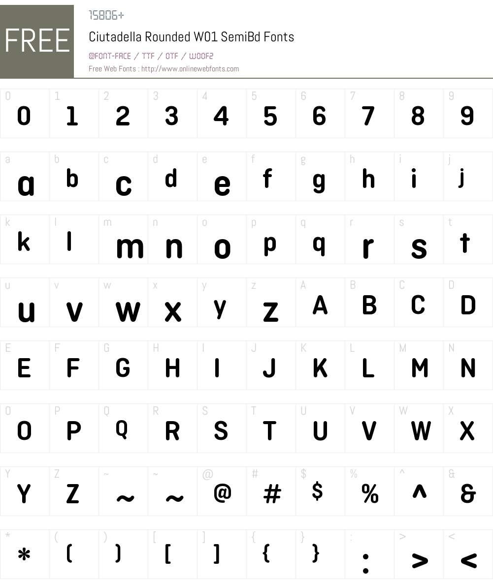 CiutadellaRoundedW01-SemiBd Font Screenshots