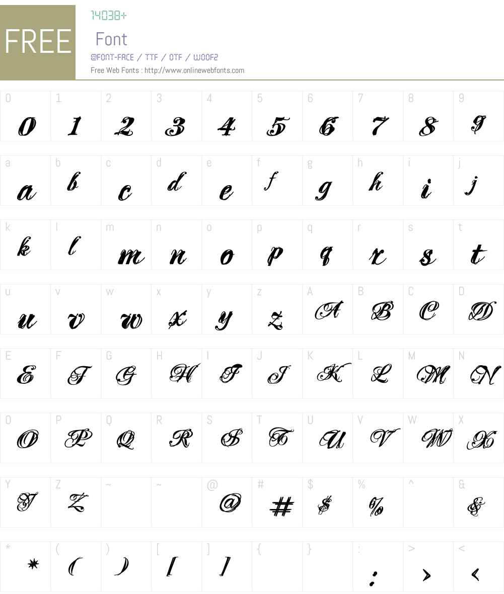 MascaraW00-Bold Font Screenshots