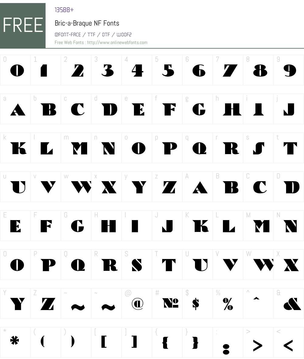 Bric-a-Braque NF Font Screenshots