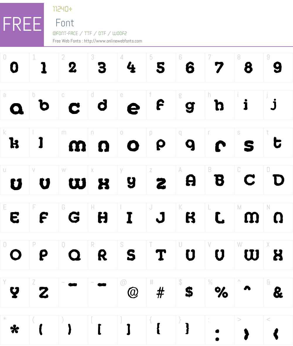 MexicoAntique-Xbold Font Screenshots
