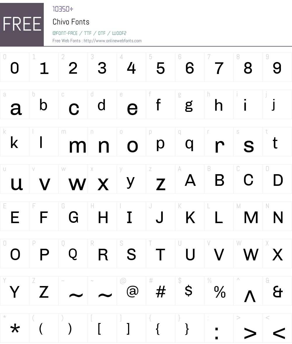 Chivo Font Screenshots