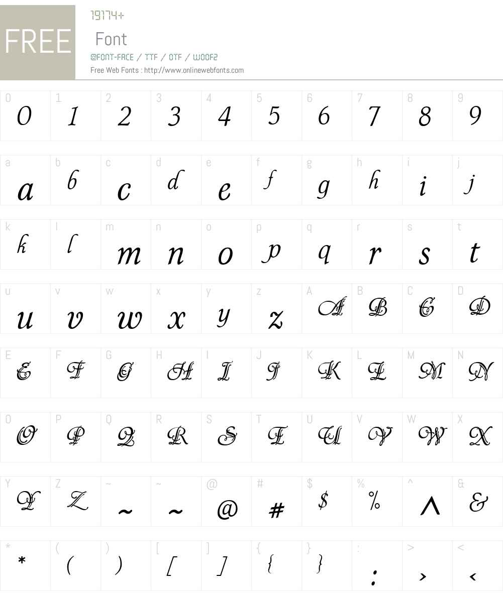 P22SymphonyW00-Regular Font Screenshots