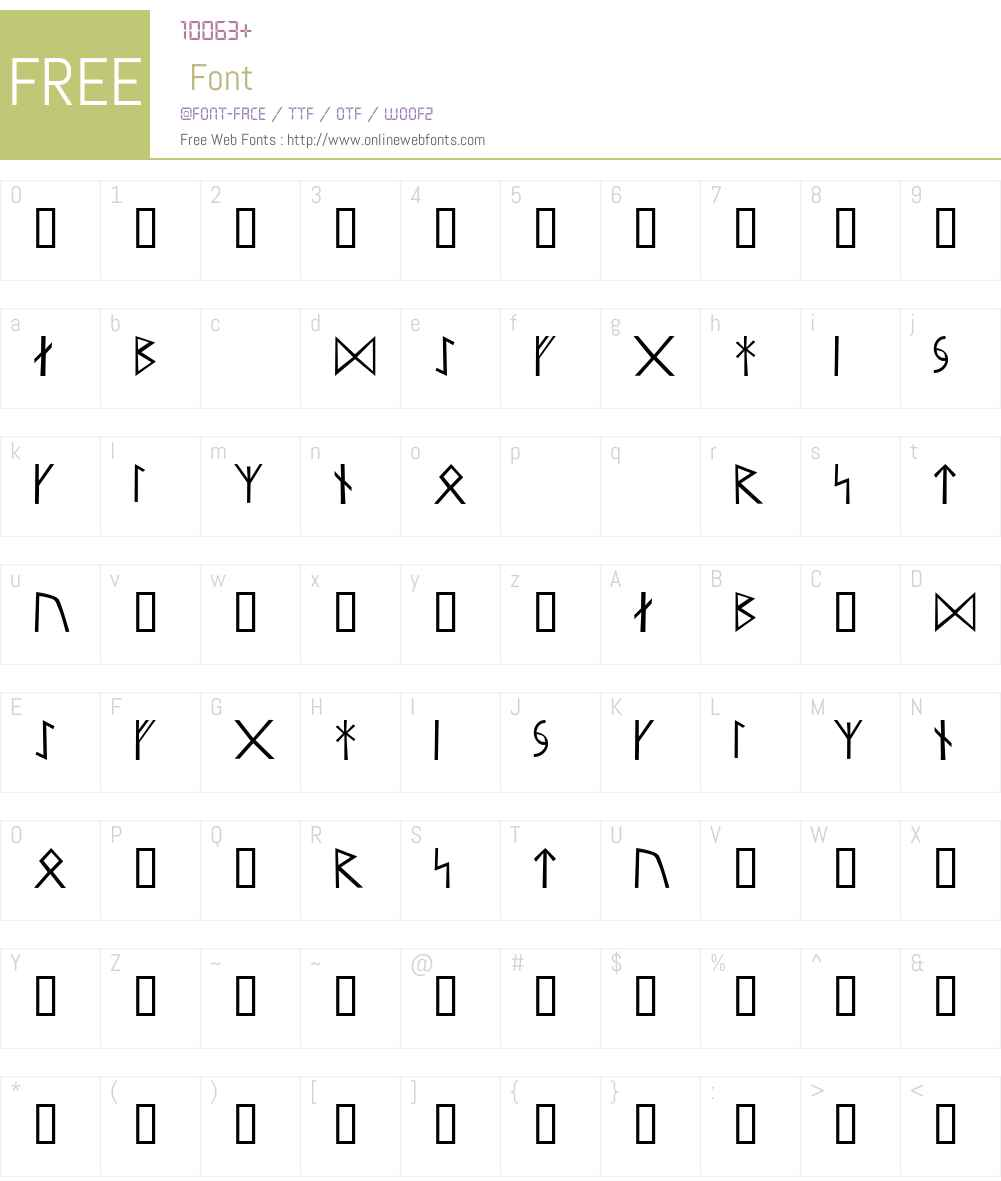 Runar Font Screenshots