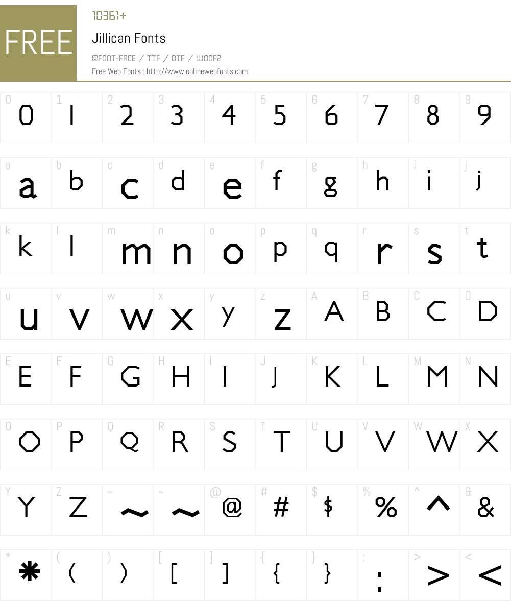 Jillican Font Screenshots