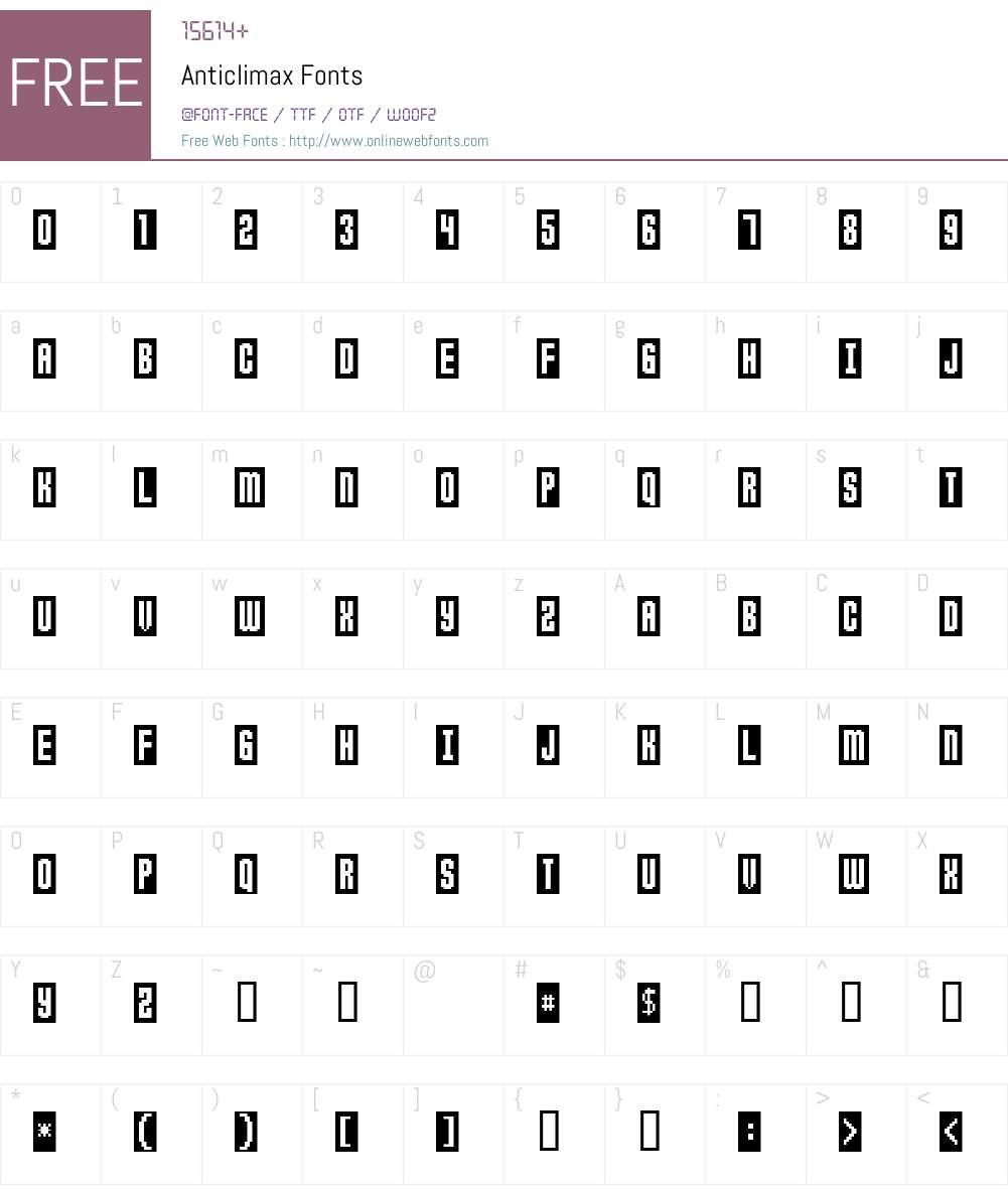 Anticlimax Font Screenshots