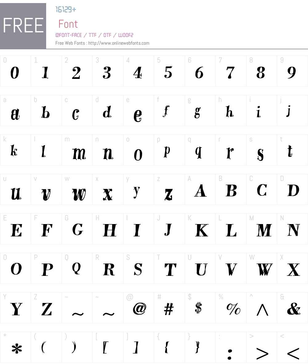 DoubleDutch Font Screenshots