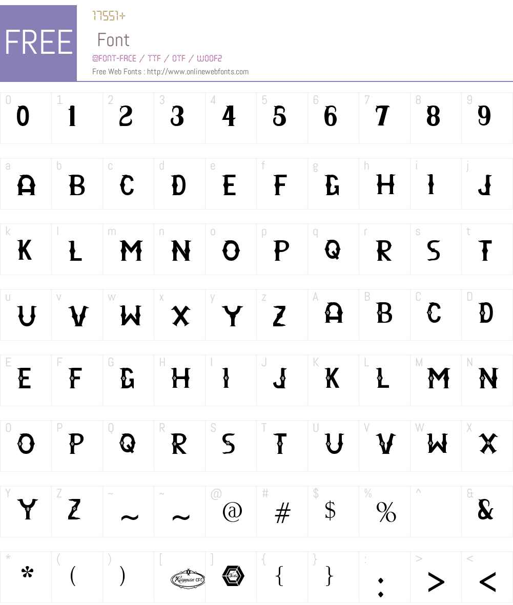 Rayyan CFC Font Screenshots
