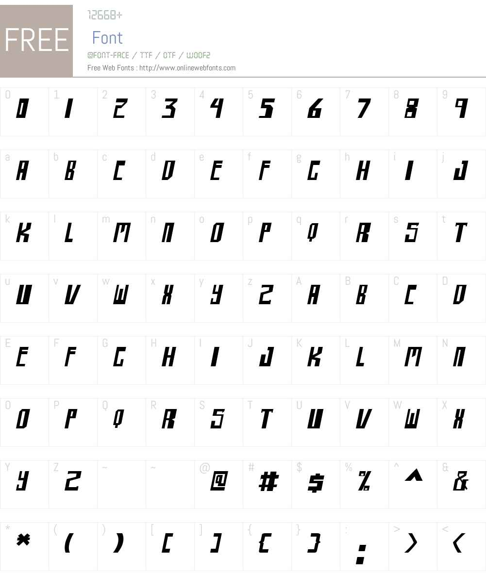shellhead Font Screenshots