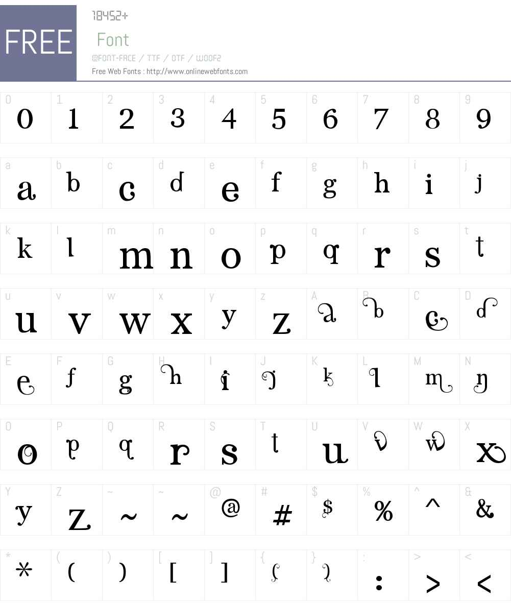 Angelic Serif Font Screenshots