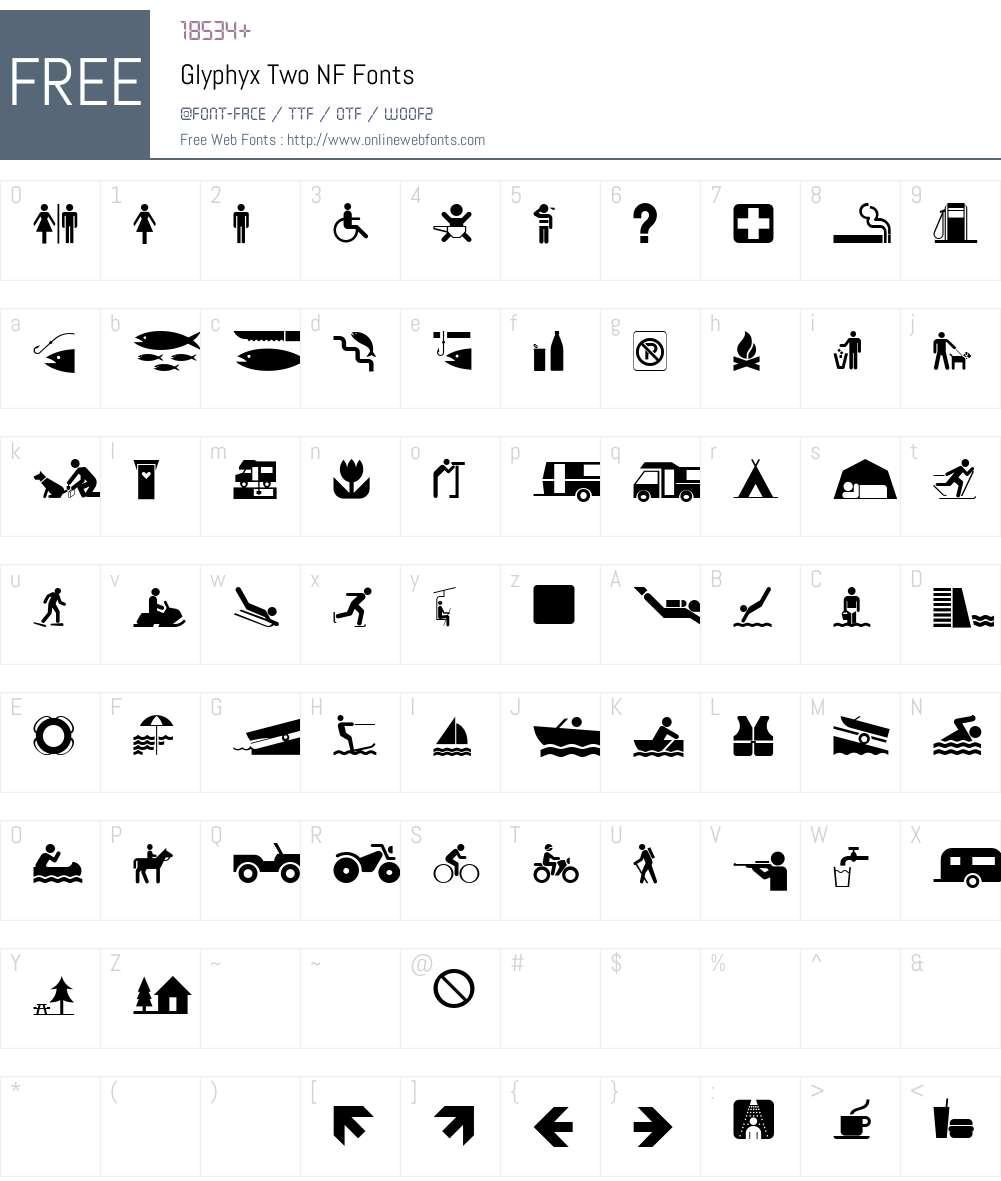 Glyphyx Two NF Font Screenshots