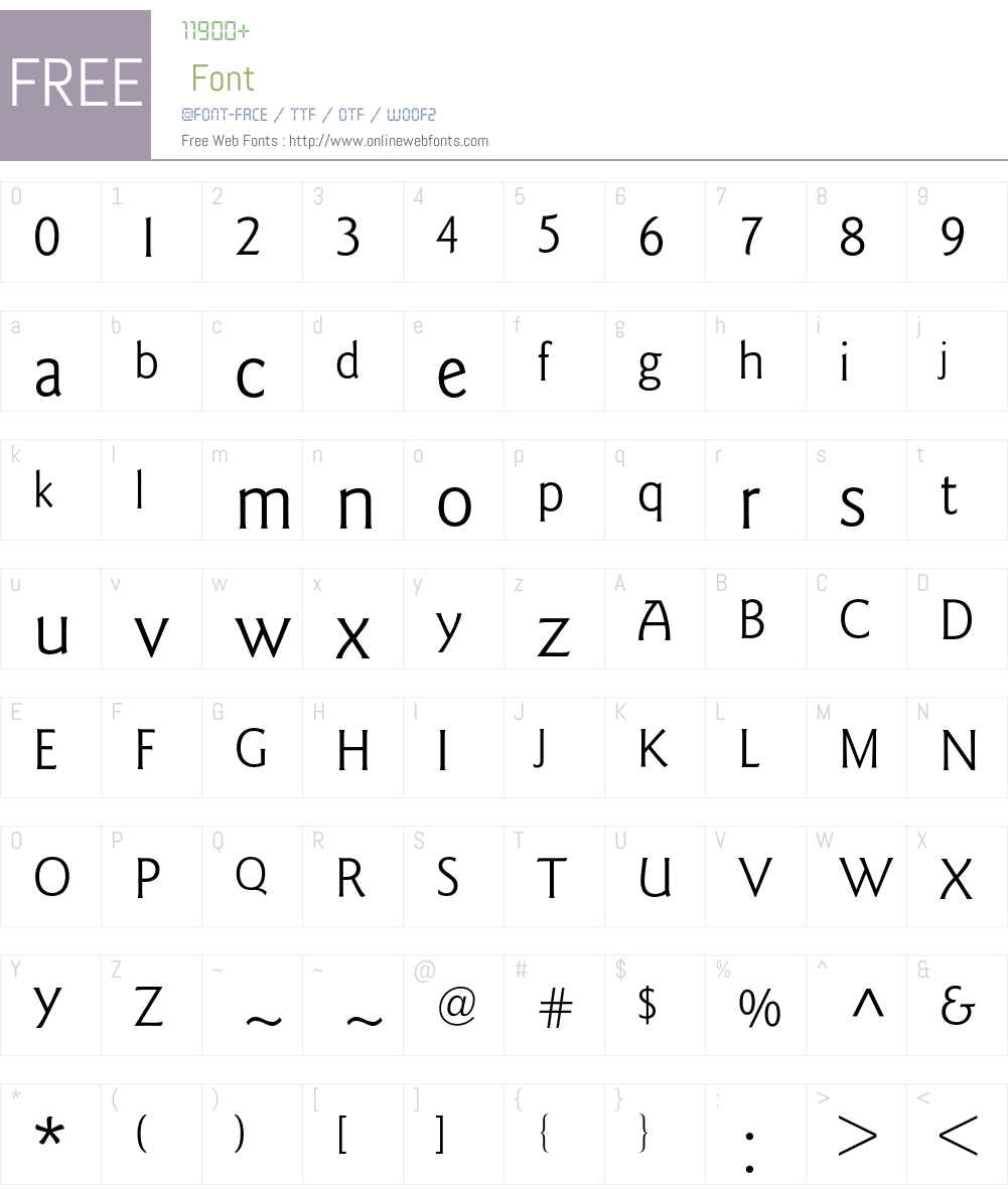 Goudy Sans BQ Font Screenshots
