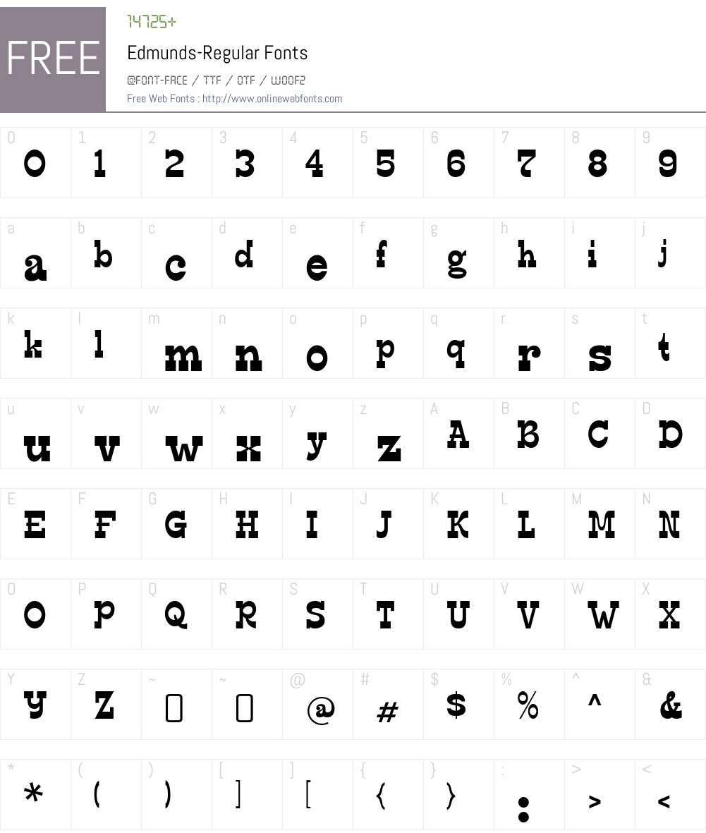 Edmunds Font Screenshots