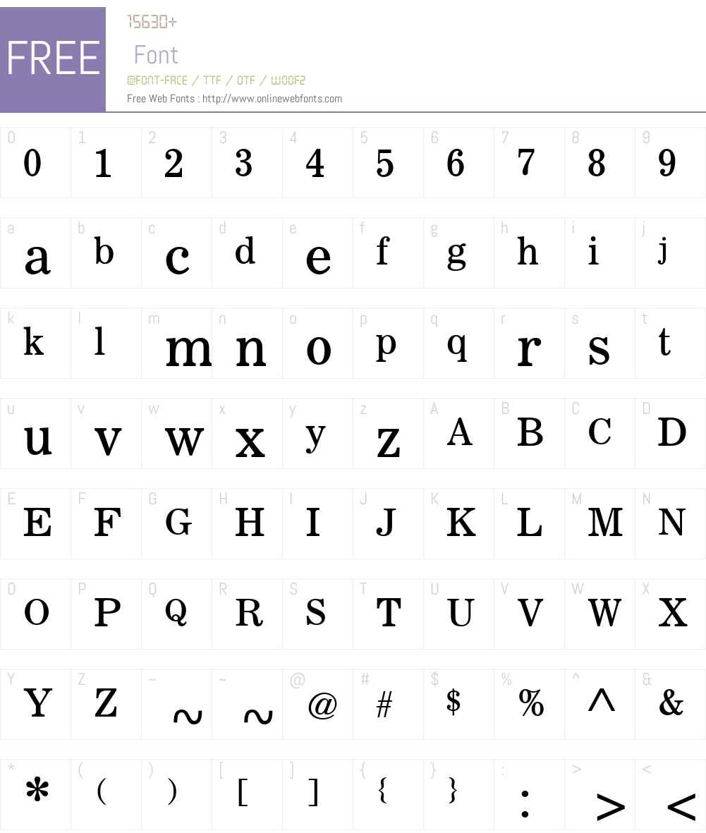 NewsNumberTwoW00 Font Screenshots