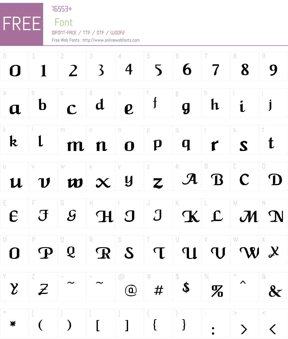 Roman Twist Font Screenshots
