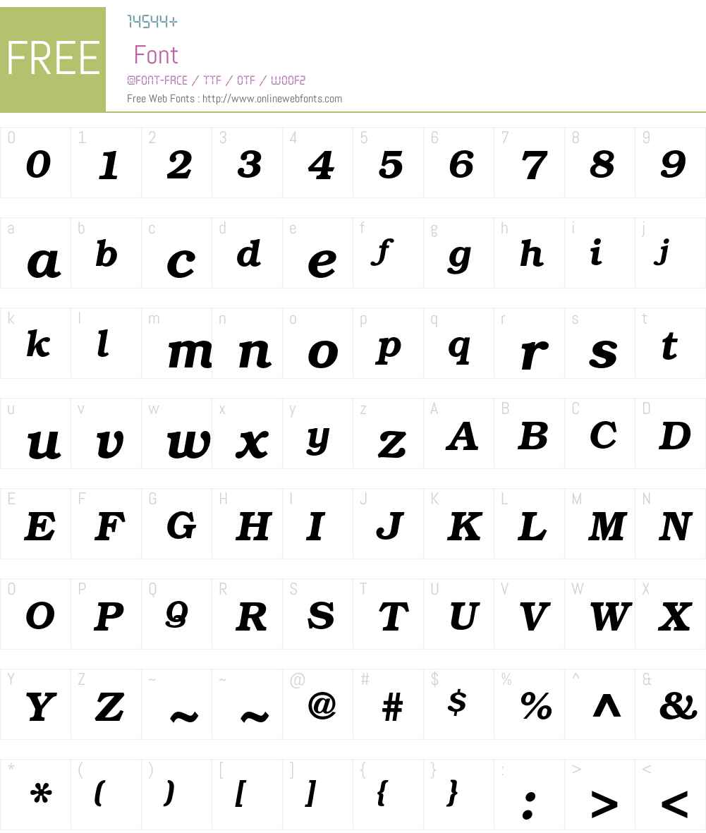 ITC Bookman Font Screenshots