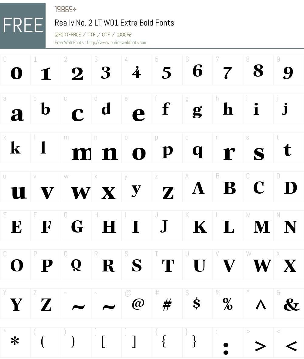 ReallyNo.2LTW01-ExtraBold Font Screenshots