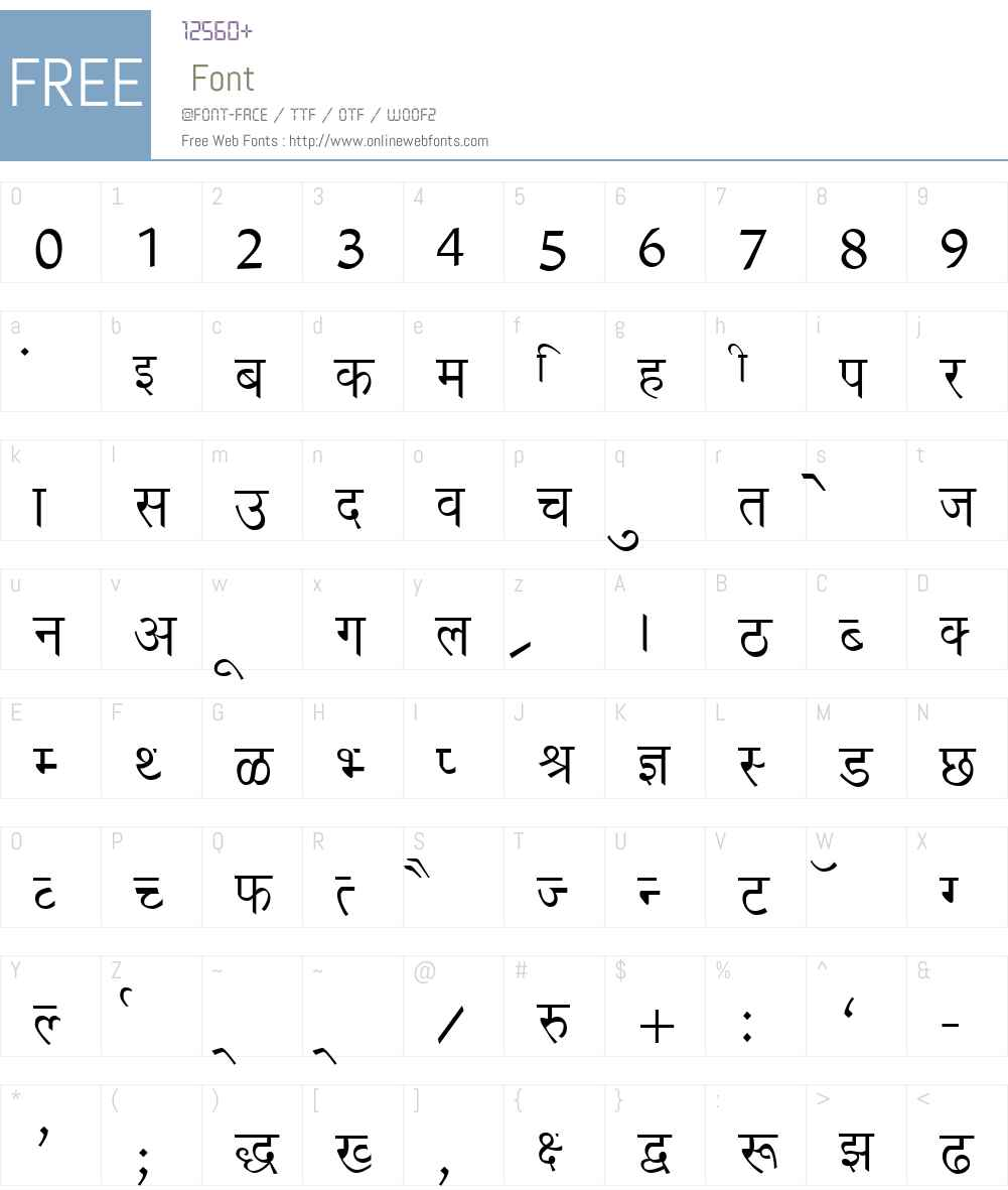 Richa Font Screenshots